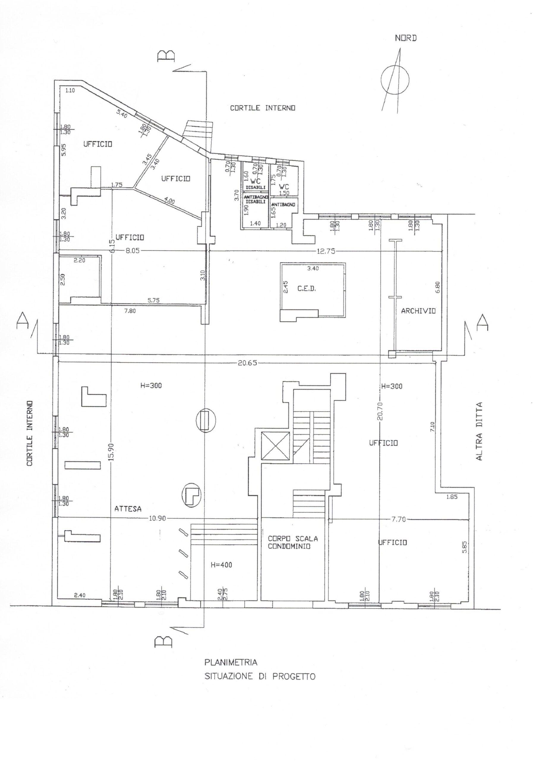 Catania centro Piano Uffici di mq. 500